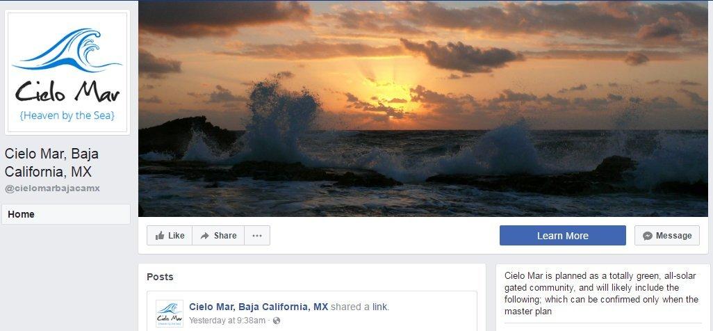 Cielo Mar Facebook page